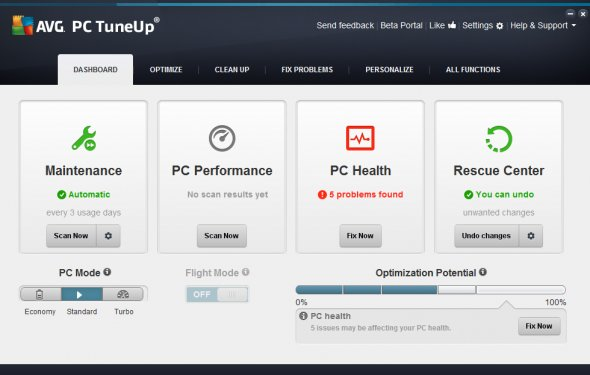 Actually to download AVG PC