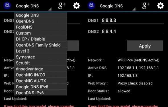Настройка SetDNS на Android